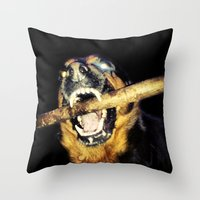 mad max Throw Pillows featuring Mad Max by LiS Fotografie