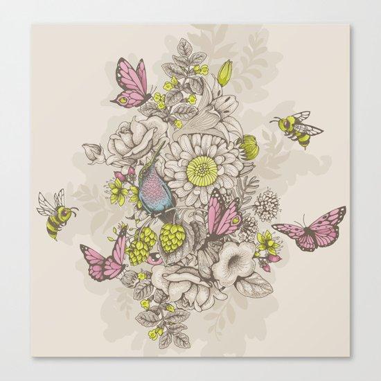 Beauty (eye of the beholder) - cream version Canvas Print