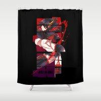 kill la kill Shower Curtains featuring Kill La Kill by feimyconcepts05