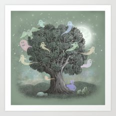 Tree Spirits  Art Print