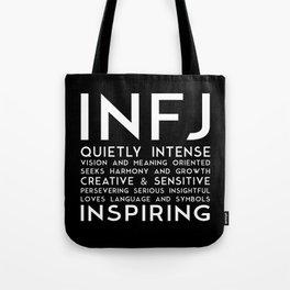 INFJ (black version) Tote Bag
