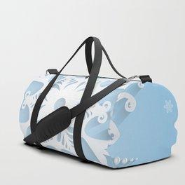 Snowflake background Duffle Bag