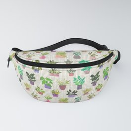 All the House Plants Collage Indoor Plants Modern Fanny Pack