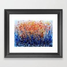 Rain Splashes  Framed Art Print