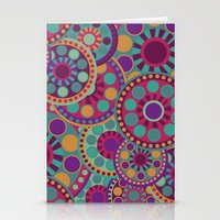 circles Stationery Cards featuring CIRCLES by Nika