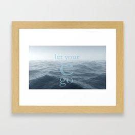 let your e go Framed Art Print