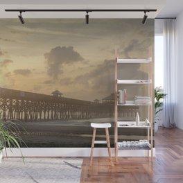 Folly Pier Sunrise & Mist  Wall Mural