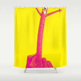 """""""The F Man"""" / Yellow Shower Curtain"""