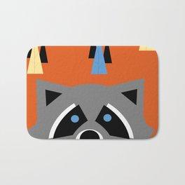 Orange Racoon Bath Mat