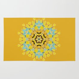 bee's flwer alone Rug