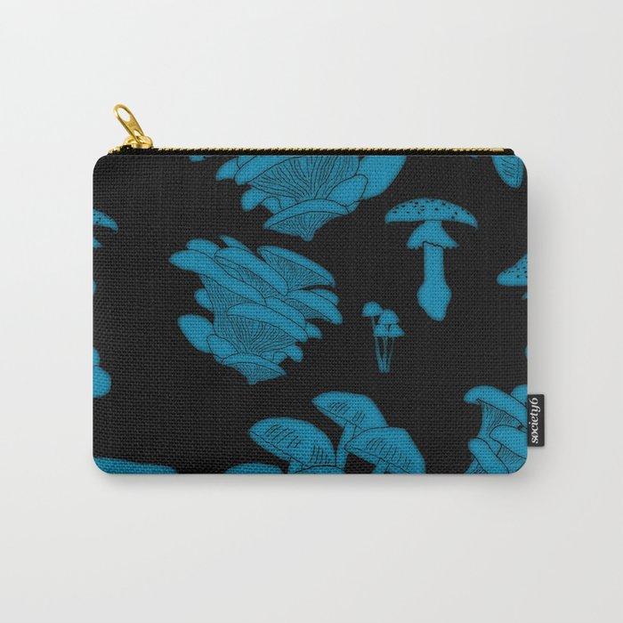 Mushroom Blue Carry-All Pouch