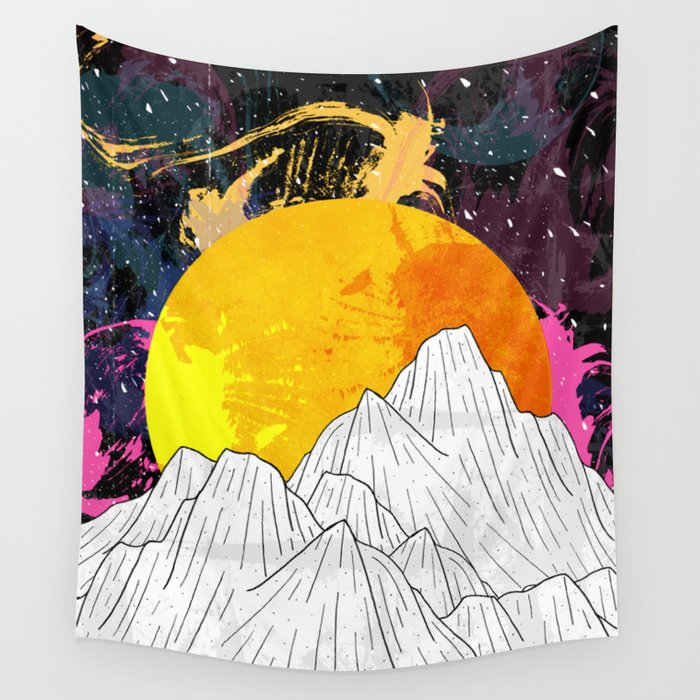 Cosmos Mounts Wall Tapestry