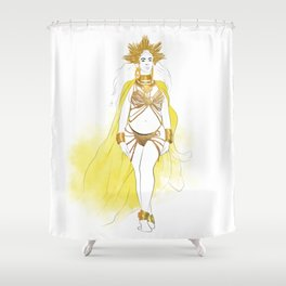 The Queen Mother Shower Curtain