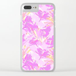 Bird of Paradise, Cosmos and African Daisy-Pink Clear iPhone Case