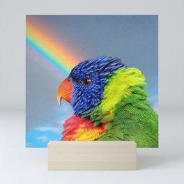 Rainbow Lorikeet Mini Art Print