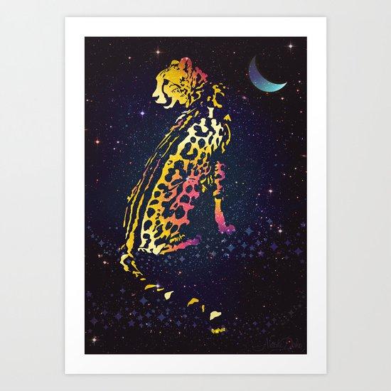 Space Leopard Art Print