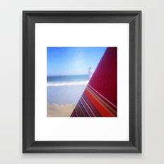 Beach Chair Framed Art Print