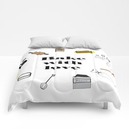 Bake with love Comforters