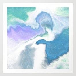Crystal Reef I Art Print