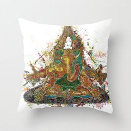 Ganesha v2 Throw Pillow