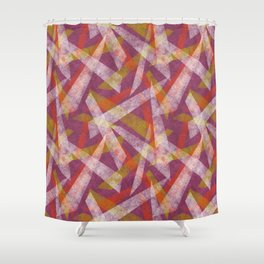 Abstract shapes in purple and red Shower Curtain
