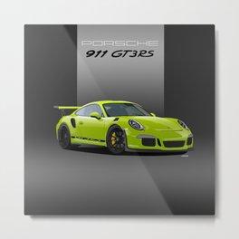 2016 Porsche 911 GT3 RS in Birch Green Metal Print