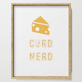 Curd Nerd Cheese Lover Design Serving Tray