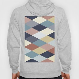 Earth Tones and Blues Geometry IIB Hoody