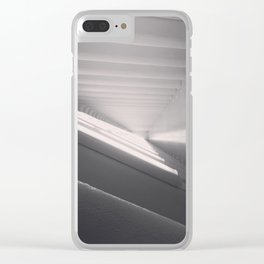White Spaces Clear iPhone Case