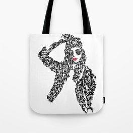 Kanji Calligraphy Art :woman's face #25 Tote Bag