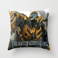 transformers Throw Pillows featuring transformers by store2u