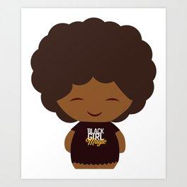 Black Girl Magic Chibi Art Print