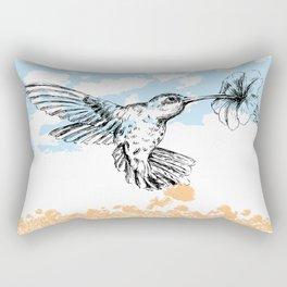 Hummingbird print Rectangular Pillow