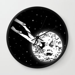 A trip to the moon Wall Clock