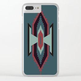 Southwestern Santa Fe Tribal Pattern Clear iPhone Case