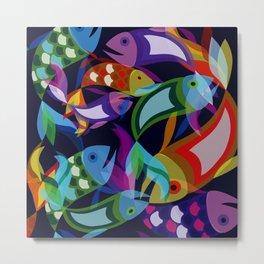 Neon Fish Metal Print