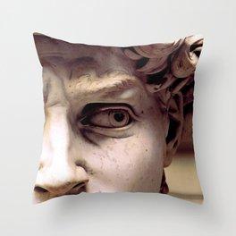 Hard Stare Throw Pillow