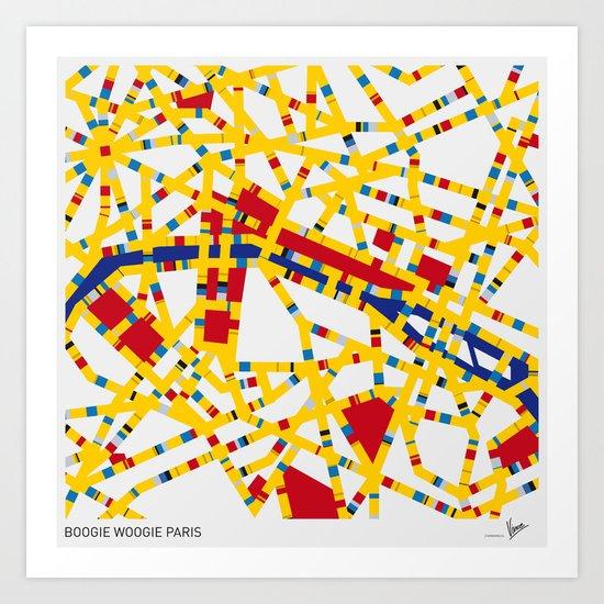 BOOGIE WOOGIE PARIS Art Print