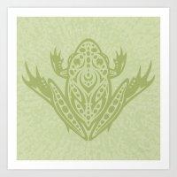 Tribal Leopard Frog Art Print