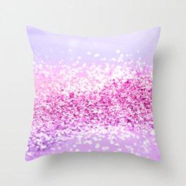 Pink Purple MERMAID Girls Glitter #1 #shiny #decor #art #society6 Throw Pillow