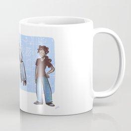 A Girl and her Robot Coffee Mug