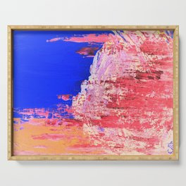 Into the Mist Pantone Color of the Year 2016 Abstract Serving Tray