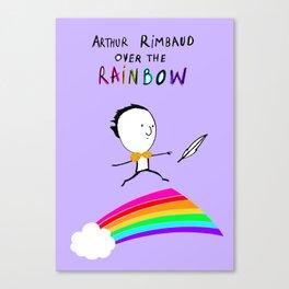 ARTHUR RIMBAUD OVER THE RAINBOW Canvas Print