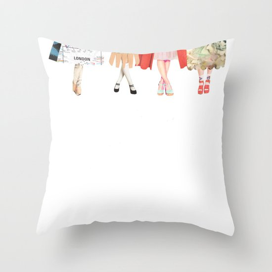 Legs and heeels Throw Pillow