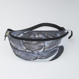 Wet Charcoal Rose Fanny Pack