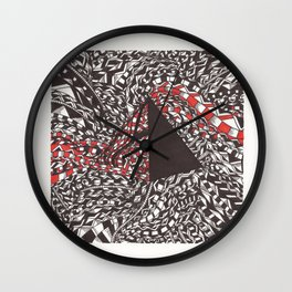 Pyramid Two  Wall Clock
