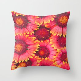 flowers Bright chamomile #society6 Throw Pillow