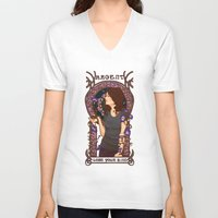 allison argent V-neck T-shirts featuring Allison by callahaa