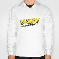 bazinga Hoodies featuring Bazinga Flash by Nxolab