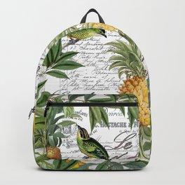 Tropical Fruit Illustration Vintage Style Backpack